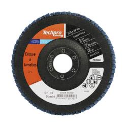 Disque à lamelle plat 125 mm Acier / Inox TECHPRO