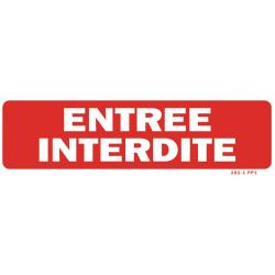 PANNEAU CONSIGNES DE SECURITE FOND ROUGE ET LETTRES BLANCHES