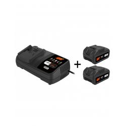 Pack 2 batteries et chargeur 18V - 5 Ah SPIT 054548