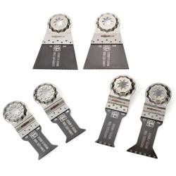 Coffret 6 lames bois et métal STARLOCK PLUS FEIN 35222967030