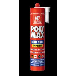Colle POLY MAX® HIGH TACK EXPRESS - cartouche 435g blanc - GRIFFON 6303764