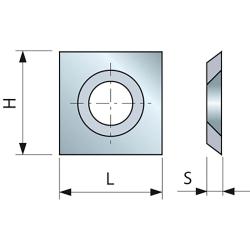 Plaquette araseur 31° - 14 x 14 mm FREUD