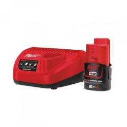 Pack énergie 1 chargeur + 1 batterie 12V MILWAUKEE 4933451900