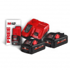 Pack énergie 2 batteries 18V 3Ah Redlithium ion + chargeur + batterie 12V 2Ah MILWAUKEE 4933471071