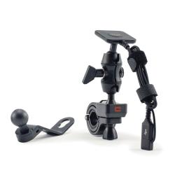 Kit de fixation et de charge pour moto CROSSCALL RIDE.BO