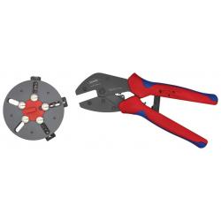 Pince à sertir avec 3 porte-outils KNIPEX