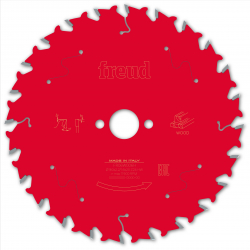 Lame bois pour scie circulaire - Ø 160 mm - AL 20 mm - 24 dents - E 1,6/2,2 mm FREUD F03FS09678