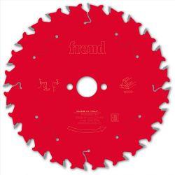 Lame bois Ø 160 mm - AL 20 mm - E 1,8/1,3 mm - 24 dents FREUD F03FS09675