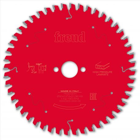 Lame HPL Ø 160 mm - AL 20 mm - E 2,2/1,6 mm - 48 dents FREUD F03FS09865