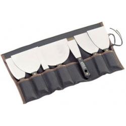Lot de 7 couteaux à enduire inox L'OUTIL PARFAIT 1694