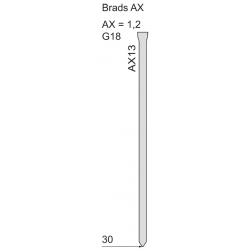 Pointe tête homme AX - 105792
