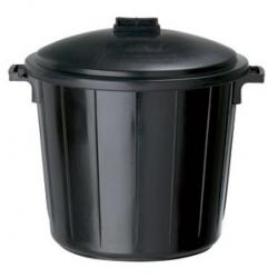 Poubelle en plastique de 80 litres avec son couvercle