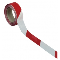 Ruban de signalisation Blanc/Rouge