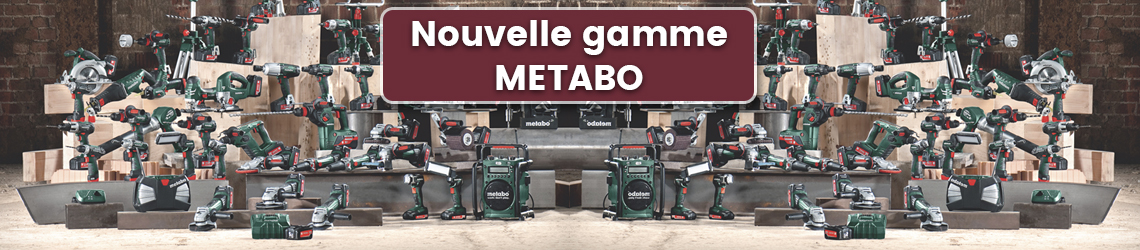 nouvelle gamme metabo. Black Bedroom Furniture Sets. Home Design Ideas