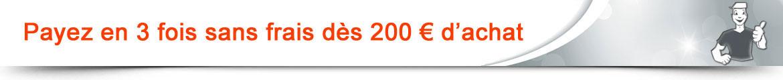 Paiement en 3 fois sans frais dès 100€ d'achat !